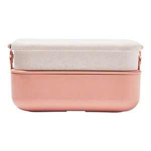 Our Place Layered Lunch Box with Clips + Utensils